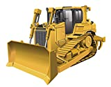 StikArt Yellow Bulldozer Construction Truck Wall Decal, 13-inches W by 11-inches H