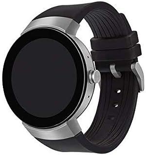 Movado Connect Digital Smart Module Stainless Steel Smartwatch, Silver/Black Strap (Model 3660016) (Renewed)