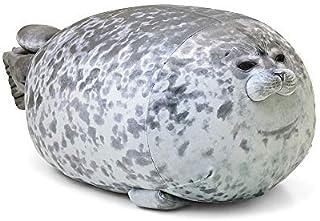 Rainlin Chubby Blob Seal Pillow Stuffed Cotton Plush Animal Toy Cute Ocean Pillow Pets (A-Gray, Small(13.0 in))