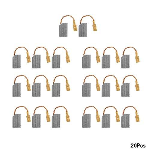 20 stuks elektromotor generator koolborstel vervanging koolborstels voor generieke elektromotorassen