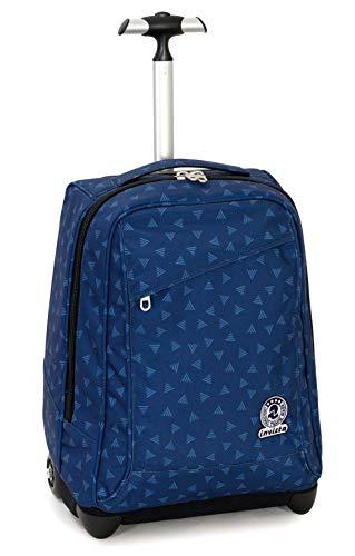 Trolley Invicta Triangle, Blu, 35 Lt, 2in1 Zaino con Sollevamento Spallacci per uso Trolley, Scuola & Viaggio