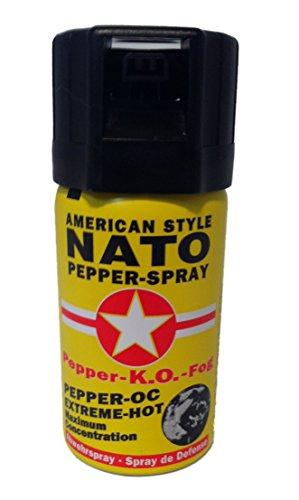 Pfefferspray 40ml Dose NATO OC Pfeffer KO Spray Selbstverteiligung Abwehrspray MADE IN GERMANY