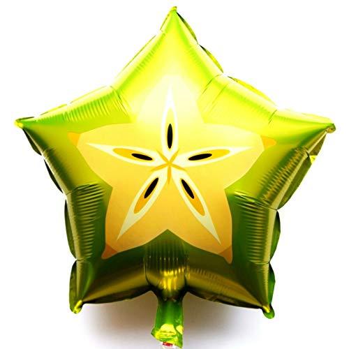 Helium Folienballon Sternfrucht Garten Bio Party Sommer Saft Hochzeit Deko