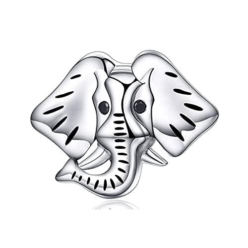 Pandora 925 plata esterlina DIY joyería Charmnecklace colgantes pulsera adornos animal elefante cuentas para mujeres hombres