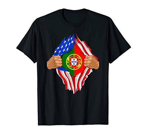 Portuguese Blood Inside Me T-Shirt   Portugal Flag Gift