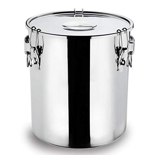 Latas de leche de acero inoxidable, barriles de transporte, cubo de leche, jarra de aceite, barril de vino, barril de silicona (tamaño: 50 L)