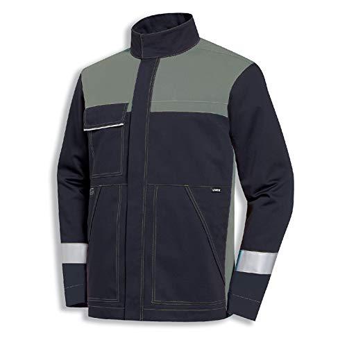 Uvex Protection Perfect Multifunction Herren-Arbeitsjacke - Dunkelgraue Männer-Bundejacke - Multifunktionale Schutzbekleidung 60/62
