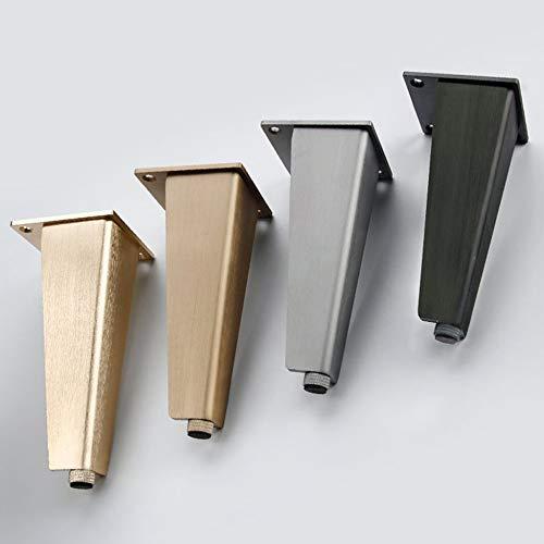 FA-HX Pies de apoyo: pies de apoyo para muebles × 4, pies de muebles de altura ajustable de aleación de aluminio sólido, utilizados para elevar los pies de apoyo para camas y armarios/C / 200