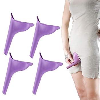HAKDAY Portable Female Women Urinal Camping Travel Toilet Device 4PCS,Purple