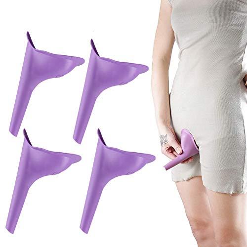 HAKDAY Portable Female Women Urinal Camping Travel Toilet Device 4PCSPurple