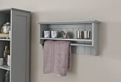Colonial Bathroom Towel Rail Shelf Storage Unit