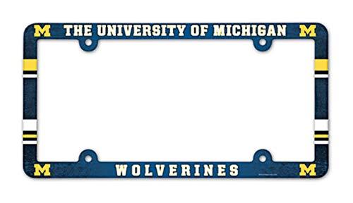 Preisvergleich Produktbild NCAA Full Color Kunststoff Nummernschild Rahmen,  Michigan Wolverines