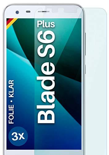 moex [3 Stück] Schutzfolie kompatibel mit ZTE Blade S6 Plus Bildschirmfolie Hüllen-Fre&lich, 0.2 mm dünne Bildschirmschutzfolie, Display Schutz extra Kratzfest - HD Ultra-Klar