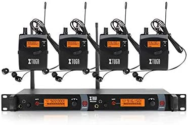 XTUGA RW2080 Rocket Audio Whole Metal Wireless in Ear Monitor System 2 Channel 4 Bodypacks Monitoring product image