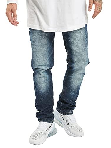 Southpole Herren Stretch Basic Denim Skinny Fit Jeans, dk.Sand Blue, 36/34