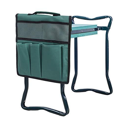 Sahgsa Trädgårdspall trädgård knäbänk förvaringsväska bärbar verktygsväska för arbete runt huset och trädgården gRÖN