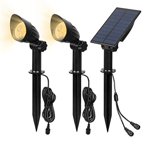 Proyectores solares al aire libre LED luces solares del paisaje IP65 impermeable luces de pared solares para patio jardín porche pasarela