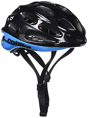 Catlike Olula Casco de Ciclismo, Unisex Adulto, Negro/Azul, L/60-62 cm