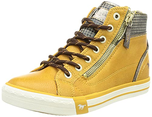 MUSTANG Damen 1146-528 Sneaker, gelb, 40 EU