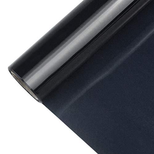 baotongle Wärmeübertragung Folie Schwarze Vinylfolie,Premium Aufbügelbare Bügelfolie Folie Schwarz für T-Shirts, Hüte(12 Zoll x 5 Fuß, 1 Roll)