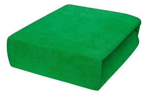 Drap housse avec élastique éponge 90x160, 90x180, 90x200 - 23 Farben 90x200, Green Grass