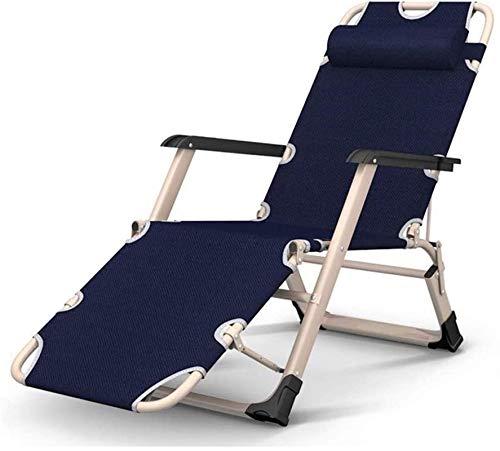 YUDIAN Sillón reclinable Ligero Sillón reclinable Plegable, Zero Gravity Camping Sillón reclinable Plegable para Patio al Aire Libre, Playa, jardín, Sol, Pesca, Almuerzo, Descanso, sofá Perezoso, r