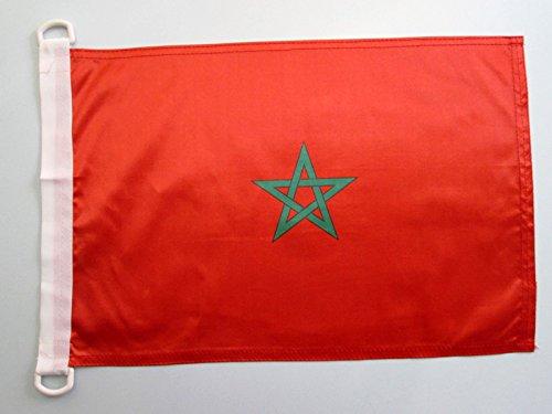 AZ Flag paviljoen Marokko 45 x 30 cm - Marokkaanse vlag 30 x 45 cm