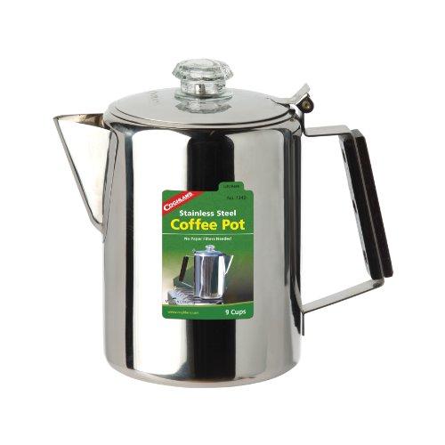 Coghlans Unisex– Erwachsene Coffee Pot Edelstahlkanne, Silber, 12 Tassen