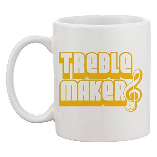 Treble Clef Maker Taza Blanca Café Té Hombres Mujeres Cerámico Coffee Tea Mug Cup