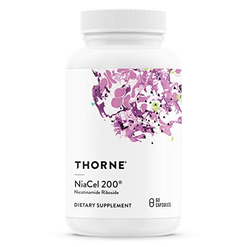 Thorne Research - NiaCel 200 - Supports Healthy Aging with Betaine Anhydrous and Nicotinamide Riboside - 60 Capsules - 200 mg (2 Months / 1 Bottle)