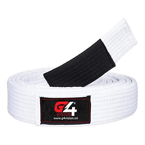 G4 Jiu Jitsu BJJ Belts Brazilian Adult A1 A2 A3 A4 Black Brown Purple Blue White (White, A4)