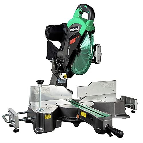 Metabo HPT 12-Inch Sliding Compound Miter Saw, Double Bevel, Laser Marker, Compact Slide System, 15-Amp Motor, Large Sliding Fences, 5 Year Warranty (C12RSH2S)