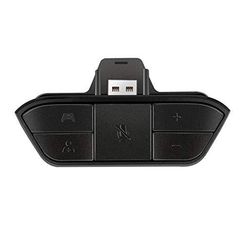 Lorenlli Adaptador de Auriculares estéreo Negro Adaptador de Auriculares Adaptador de Audio Convertidor de Auriculares para Microsoft Xbox One Wireless Game Controller