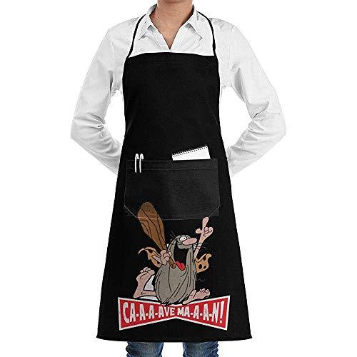 alice-shop Captain Caveman Unisex Schürzen für Frauen Männer Restaurant Bar Schürze Schürze Taschen