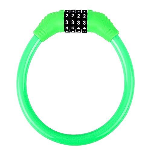 Yanxinenjoy Fietscode hangslot diefstalbeveiliging voor mountainbike, vaste ketting voor elektrische auto, draagbaar slot met ring, accessoires voor fietsuitrusting Blue