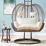 YB&GQ - Nido de huevo para silla, cojín denso para el asiento de la cesta, alfombra lavable de mimbre, balancín, silla y hamaca para colgar