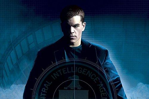 2002 Spying Matt Damon The Bourne Identity Tv Movie Film Poster Fabric Silk Poster Print 33535