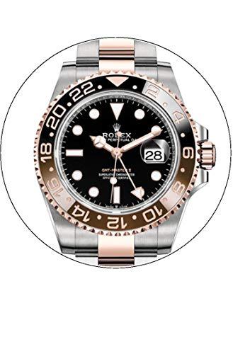 7.5Rolex Watch commestibili glassa topper per torta di compleanno