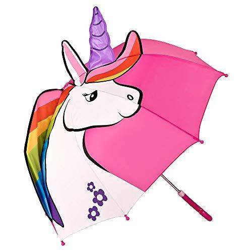Van LILIENFELD paraplu jongens meisjes Kids eenhoorn roze tot ca. 8 jaar.