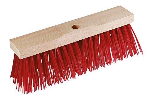 Kerbl 29520 Straßenbesen, Breite 42 cm, extra groß, rote Borsten