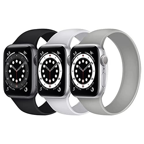 Seltureone Correa deportiva de silicona para iWatch SE, Serie 6, 5, 4, 3, 2, 1 Sport Edition (S/M/L), 3 unidades, compatible con Apple Watch Band 38-40 mm, 42-44 mm, todo en uno