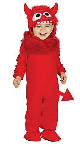 Guirca-85830 Disfraz little devil baby, Color rojo, Talla 12-24 meses (85830.0)