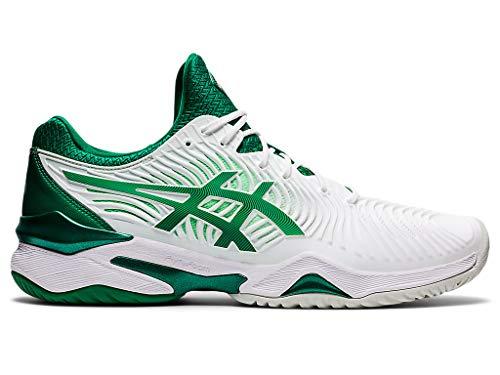 ASICS Men's Court FF Novak Tennis Shoes, 12M, White/Kale