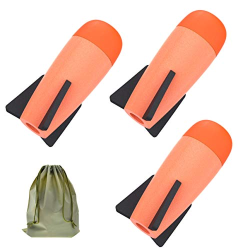 Coodoo Compatible Darts 3-Pack Mega Missile Refill Bullets for Nerf Blaster Guns Foam Rockets Toys for Nerf Party - with Storage Bag