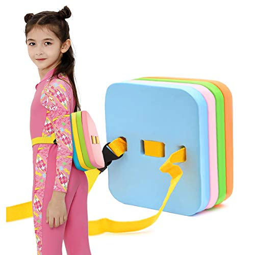 Safety Swim Bubble Belts Foam Back Floating Board Swimming Kickboards Swim Training Kickboard Aid with Buckle Belt Float Kick Board Swim Belt Pool Learning Ergonomic for Kids & Swimming Beginner