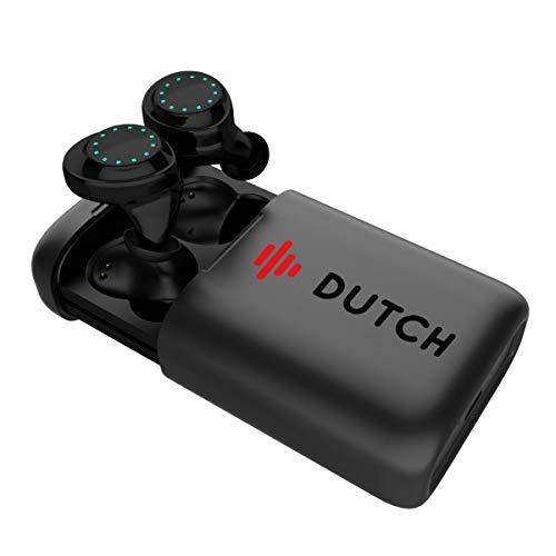 Dutchbudz Auriculares Inalámbricos Estéreo In-Ear de Calidad | Audífonos con Bluetooth 5.0, Micrófono Dual, Botones de Fácil Acceso, Talk Through con App | Ideal para Deporte y Estilo de Vida Activo