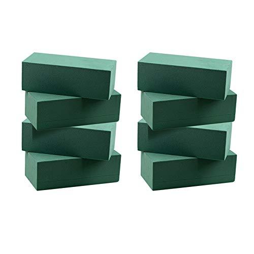 Lot de 8 blocs de mousse florale humide en polystyrène vert pour arrangement floral - 23 × 10,5 cm