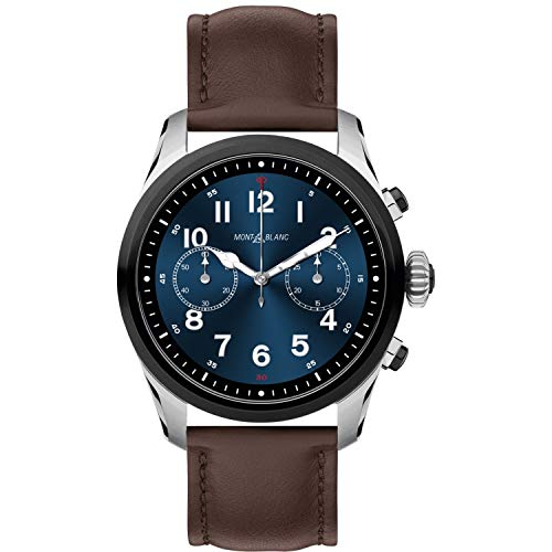 Montblanc Summit 2 Smartwatch 119439 Bicolor Steel and Brown Calfskin Strap