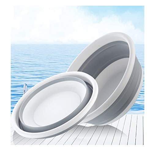 Bathroom Portable Silicone Collapsible Camp Wash Basin Water Storage for Camping Fishing Outdoor Travel Washing The Best Helper in The Bathroom (Size : 37.513cm)