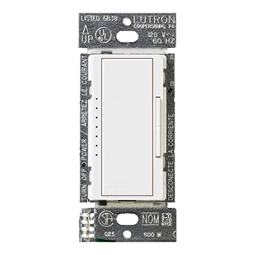 Lutron MACL-153MR-WH Maestro 120-Watt Multi-Location CFL/LED Digital Dimmer